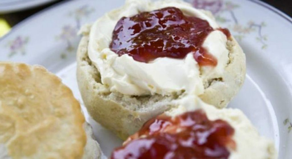 National Trust picture of a cream tea scone