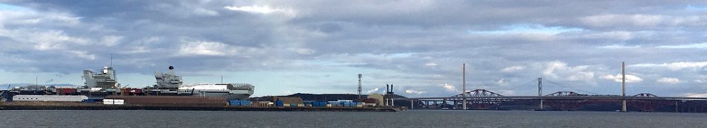 Rosyth Dockyard and the Prince of Wales aircraft carrier