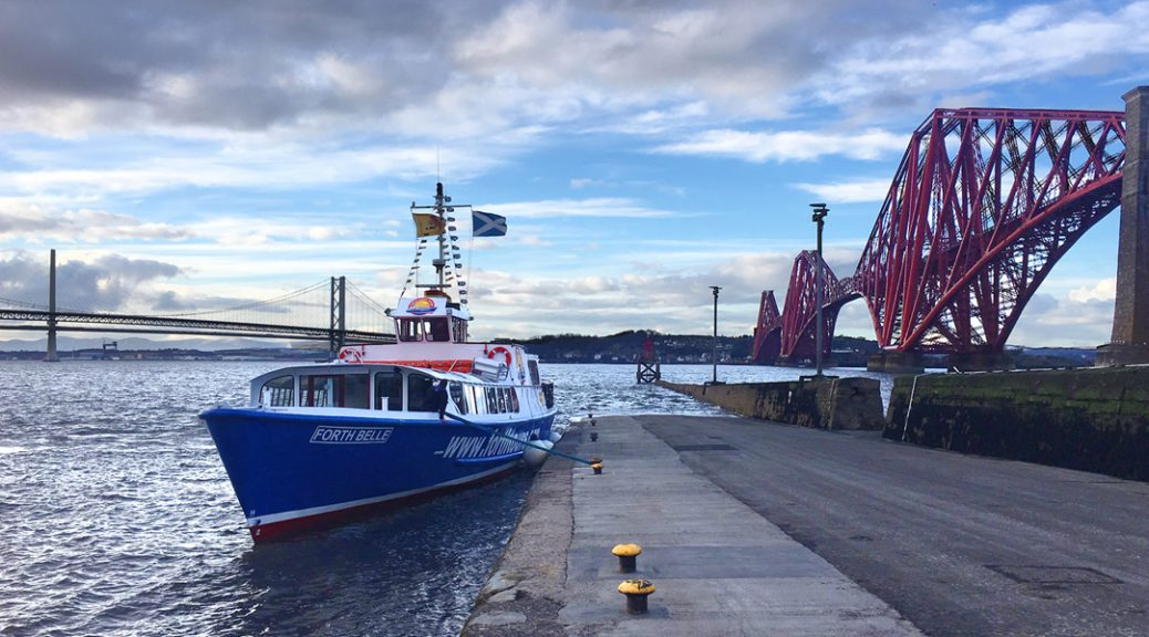 The Forth Belle with the Forth Rail bridge in the background
