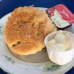 A scone on the Forth Belle cruise