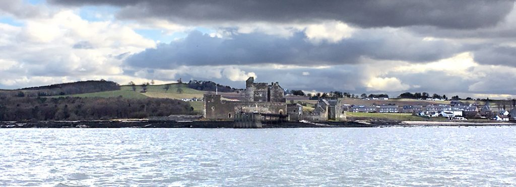 Blackness Castle from the Forth Belle river cruiser