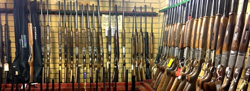 The gun room at the National Shooting Centre Scotland