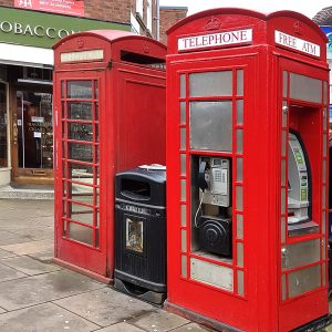 Two K6 telephoe boxes in Stratford-upon-Avon